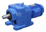 R helical gearbox motor